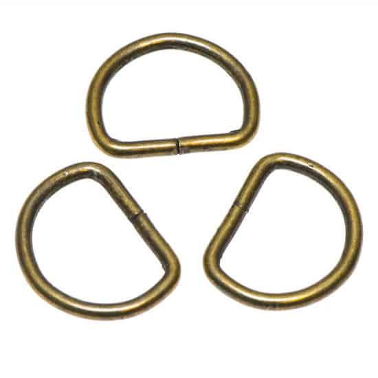 Metalen D-ring bronskleurig ZWAAR 30 mm 239148719 metalen D ring brons zwaar 30mm