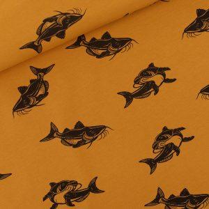 Koopjes Carps French Terry Dusan Brown SYAS Fabrics 01b