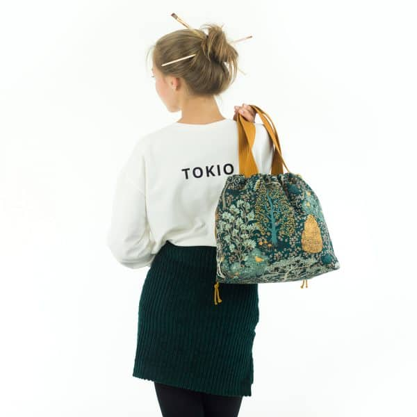 See You At Six - Oriental Garden - M - Cotton CanvasGabardine Twill - Green Gables - R French Terry Off White SYAS 17b
