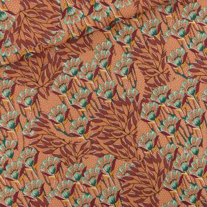 Home backup Gilly Flowers Viscose Sunburn Brown SYAS 01b