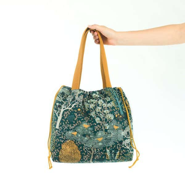 See You At Six - Oriental Garden - M - Cotton CanvasGabardine Twill - Green Gables - R Oriental Garden Canvas Ponderosa Green SYAS 15b