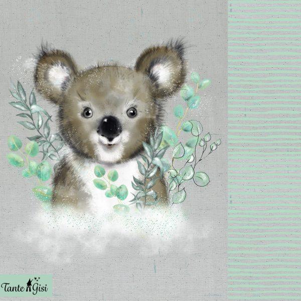 Lillestoff- Koala - Paneel (157x80cm) koala paneel