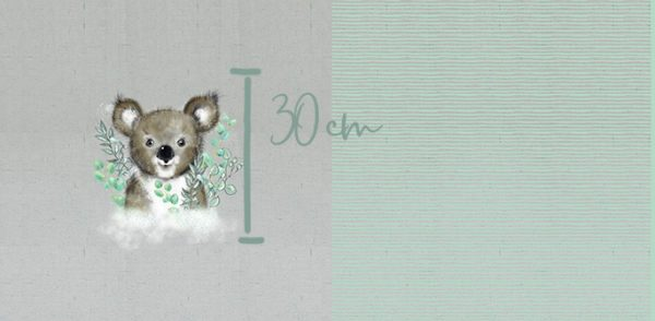 Lillestoff- Koala - Paneel (157x80cm) koala paneel5