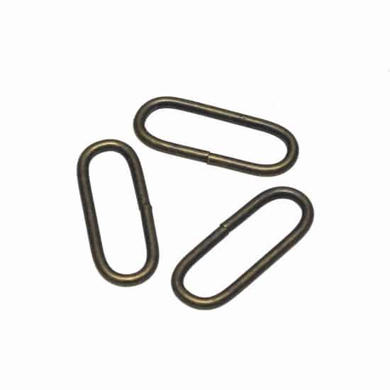 Metalen passant met ronde hoeken bronskleurig 30 mm passant ronde hoeken brons 30mm
