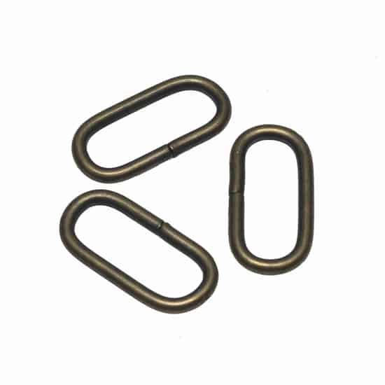 Metalen passant met ronde hoeken bronskleurig ZWAAR 30 mm passant ronde hoeken brons zwaar 30mm