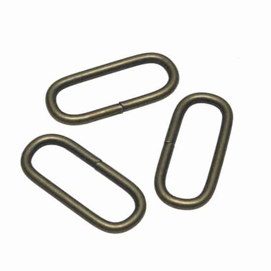Metalen passant met ronde hoeken bronskleurig ZWAAR 38 mm passant ronde hoeken brons zwaar 38mm