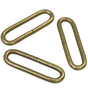 Metalen passant met ronde hoeken bronskleurig ZWAAR 50 mm passant ronde hoeken brons zwaar 50mm
