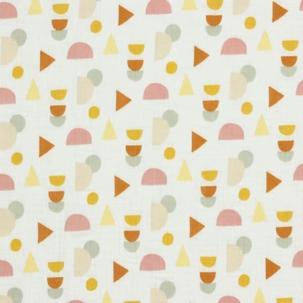 Poppy - Double Gauze GOTS Dots - White 08857.007 mainimage