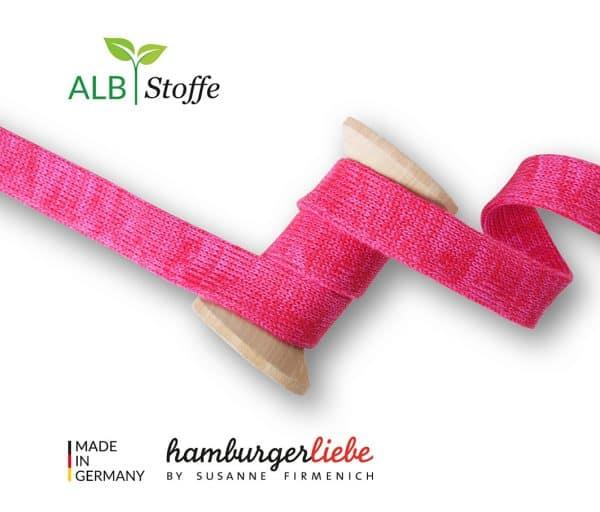 Albstoffe Plat koord Hoodie 2cm breed - Red/Pink Cord Me Shine 01 L