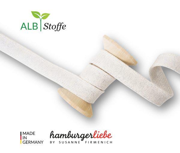 Albstoffe Plat koord Hoodie 2cm breed - meringa/zilver Cord Me Shine 02 L