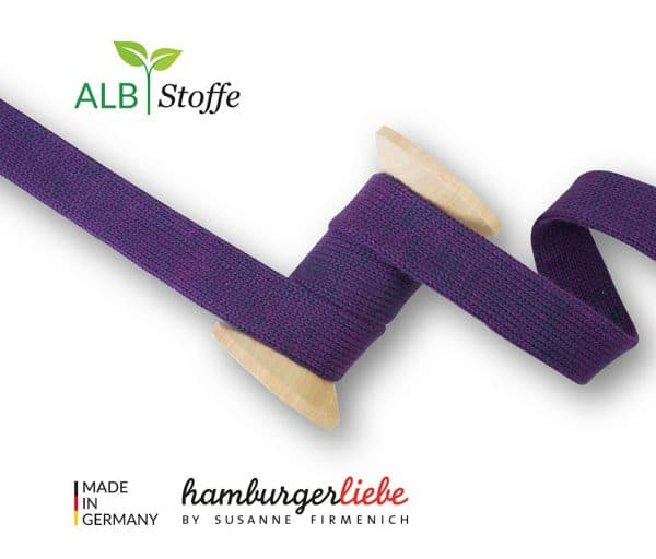 Albstoffe Plat koord Hoodie 2cm breed - marine/violet Cord Me Shine 05 L