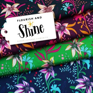 Home albstoffe shine flourish and shine blau