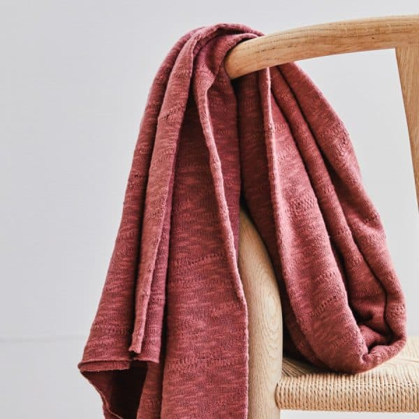 Mind the Maker - Organic Slub Jacquard Knit - Rosewood mtm organic slub jacquard sq 02