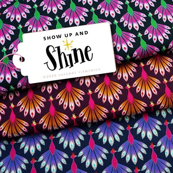Albstoffe- Show Up And Shine - Zwart shine jersey show up and shine gots aubergine albstoffe hamburger liebe 173 904h90d 002 ZB03