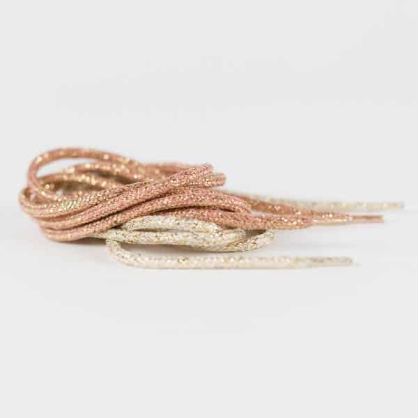 See You At Six - Shoelaces - Rosé with Gold Lurex - R 0003639 shoelaces nature white with gold lurex r 1