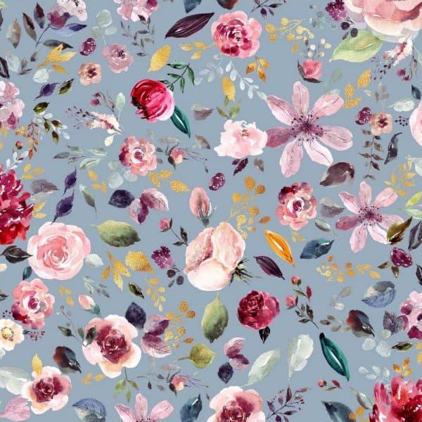 Poppy- Digital Painted Flowers - Light blue 08419.008 mainimage