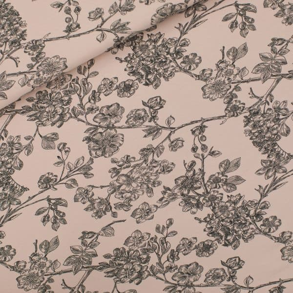 See You At Six - Cherry Blossom - L - French Terry - Pale Pink - R See You At Six Fabric Cherry Blossom Pale Pink 2021 01b