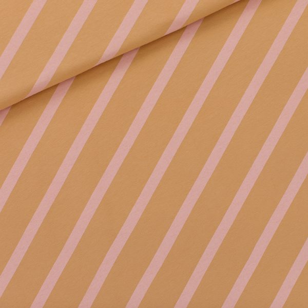 See You At Six - Diagonals - XL - French Terry - Fenugreek Brown - R See You At Six Fabric Diagonals Fenugreek brown XL 2021 01b