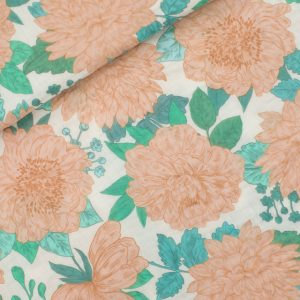 Home backup See You At Six Fabric Peonies Sea Salt Double gauze Spring 2021 01b