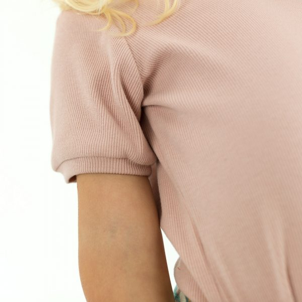 Coupon 70cm See You At Six - French Terry - Pale Pink See You At Six Fabric Ribbing Pale Pink 2021 11b