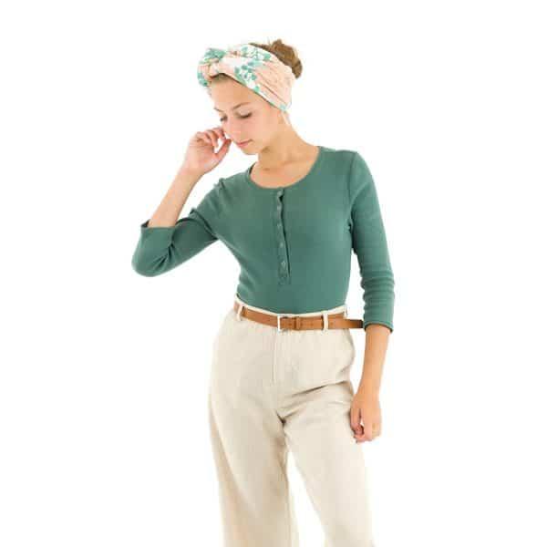 See You At Six - Ribbing - Sagebrush Green - R See You At Six Fabric Ribbing Sagebrush Green Spring 2021 30b