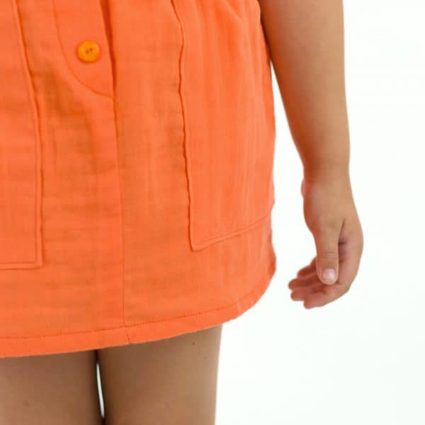 See You At Six - Double Gauze - Persimmon Orange - R See You At Six Fabric Solid Persimmon Double Gauze Spring 2021 30b