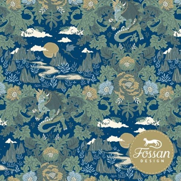 Fossan- Ancient Dragons Blue Shop Ancient Dragons Mist Blue small