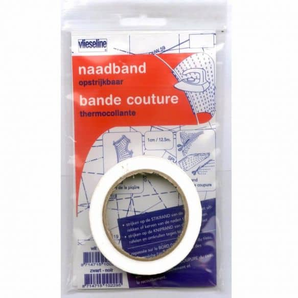Antex naadband opstrijkbaar wit 1cm – 12,5 meter naadband wit 231060