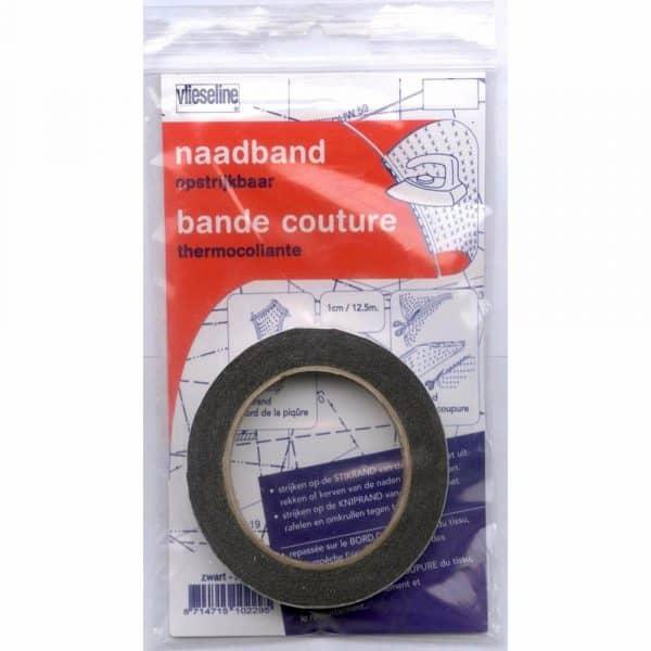 Antex naadband opstrijkbaar zwart 1cm – 12,5 meter naadband zwart 231066 1