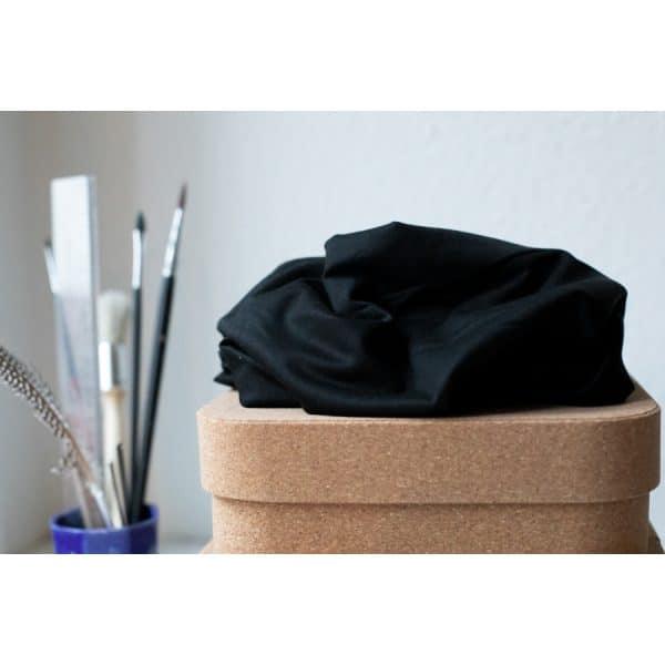 Meet Milk- Basic Stretch Jersey met TENCEL™ vezels- Black tencel stretch jersey w 02 black