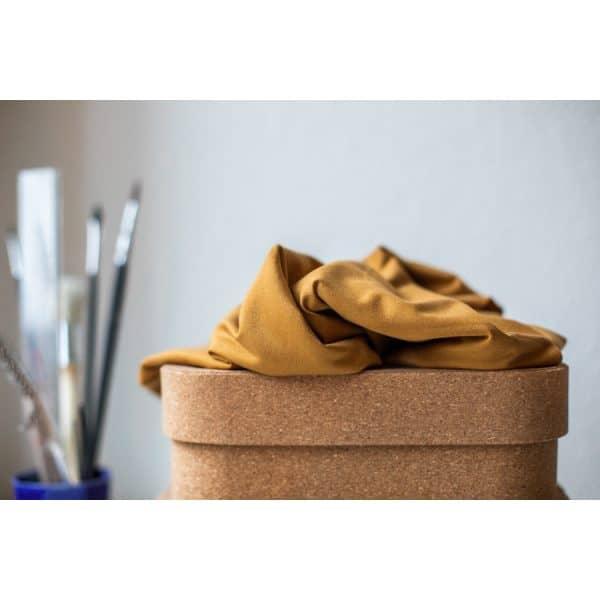 Meet Milk- Basic Stretch Jersey met TENCEL™ vezels- Mustard tencel stretch jersey w 03 mustard