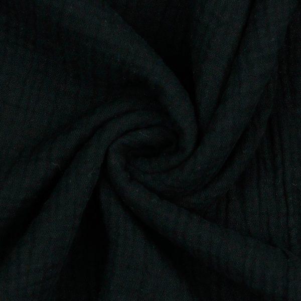 Poppy - Double Gauze GOTS - Black 03959.001 image2