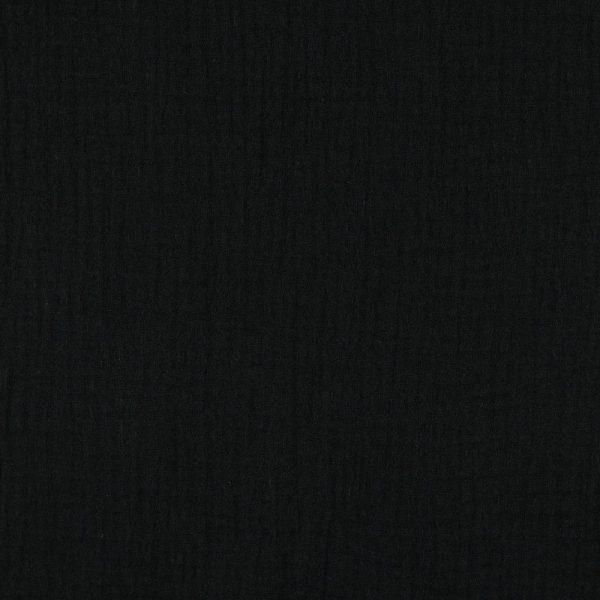Poppy - Double Gauze GOTS - Black 03959.001 mainimage