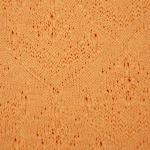 Stoffonkel- Organic cotton Sommerstrick Blüten herbstgold (GOTS)