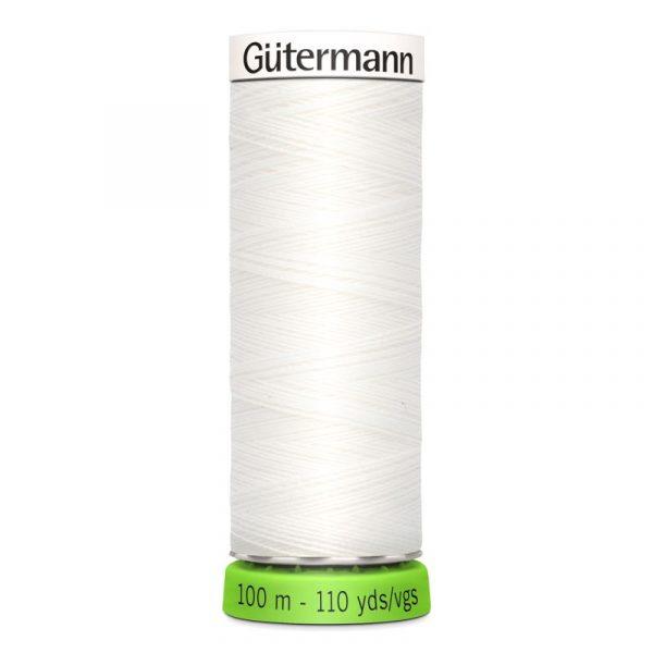 Gütermann rPET Allesnaaigaren (800) Wit 100m Gutermann rPET 100m 800