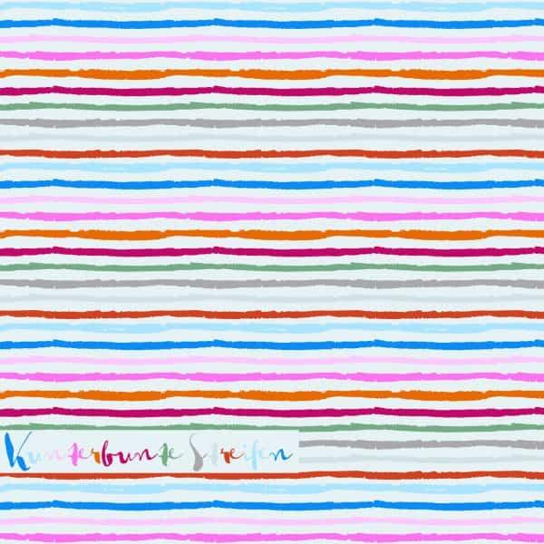 Lillestoff - Kunterbunte Streifen (Micromodal)