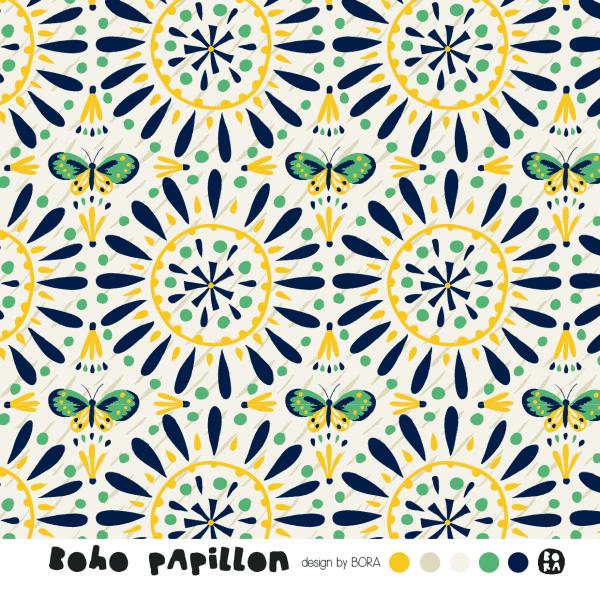 Lillestoff- Boho Papillon, Jersey