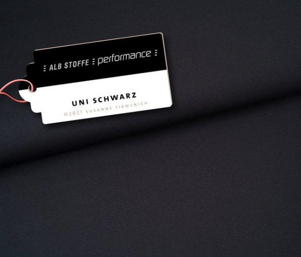Albstoffe Performance- Uni black (lycra) 1661427111