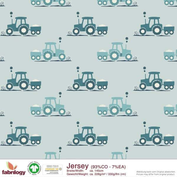 Fabrilogy - Tractor Petrol - Tricot 2100 fabrilogy gots tractor petrol
