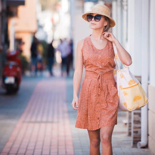 See You At Six - Flecks - M - Viscose Rayon - Amber Brown See You At Six Fabrics Summer 2021 Flecks M Pecan Brown Viscose 31b