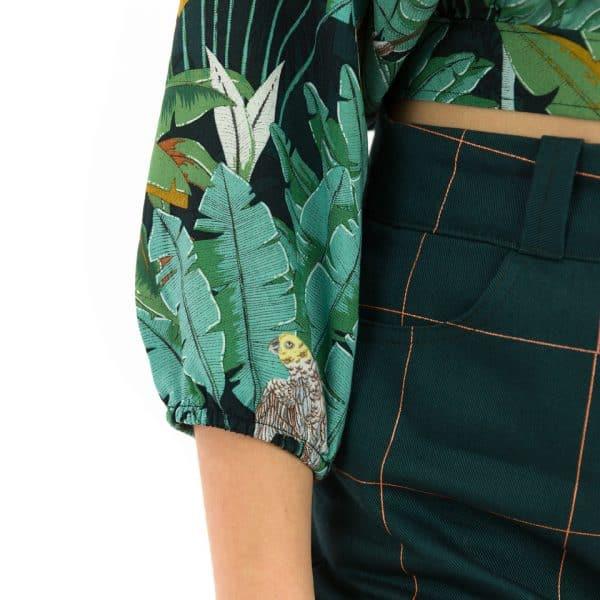 See You At Six - Thin Grid - XL - Cotton Canvas Gabardine Twill See You At Six Fabrics Summer 2021 Jungle M Green Gables Viscose 100b