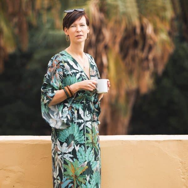 Nieuwe voorraad! See You At Six - Jungle - M - Viscose Rayon - GreenGables See You At Six Fabrics Summer 2021 Jungle M Green Gables Viscose 80b