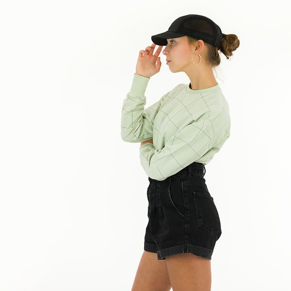 See You At Six - Thin Grid - XL - French Terry - Fog Green See You At Six Fabrics Summer 2021 Thin Grid Fog Green French Terry 20b