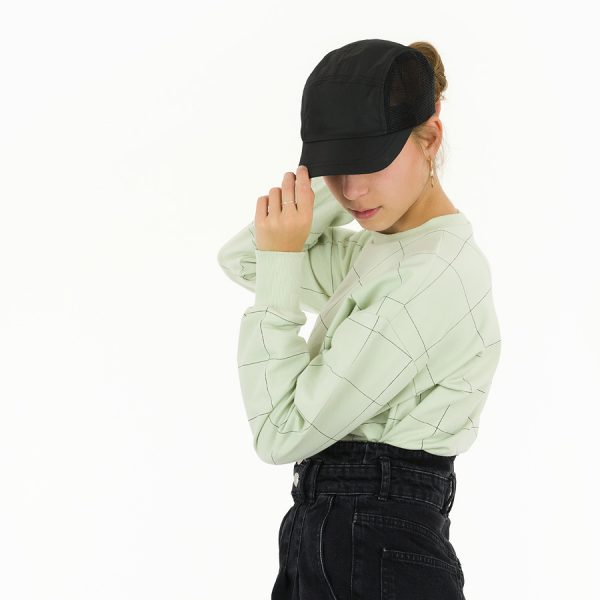See You At Six - Thin Grid - XL - French Terry - Fog Green See You At Six Fabrics Summer 2021 Thin Grid Fog Green French Terry 23b