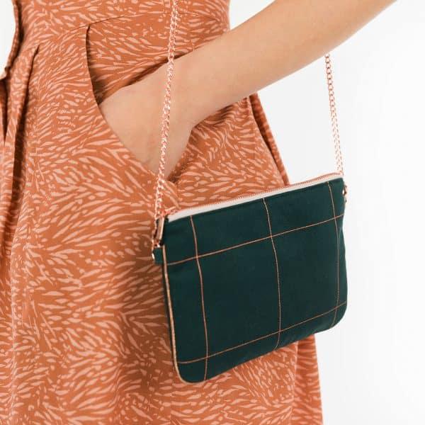 See You At Six - Flecks - M - Viscose Rayon - Amber Brown See You At Six Fabrics Summer 2021 Thin Grid XL Green Gables 41b 1