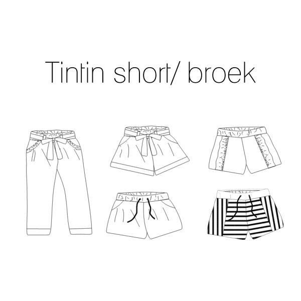 Iris May- Tintin short/broek (papierenpatroon)