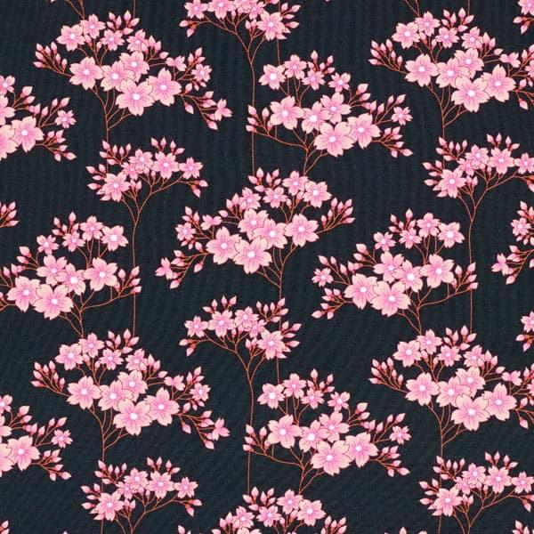 Albstoffe- Sakura Hana - Zwart sakura jersey hana gots zwart albstoffe hamburger liebe 173 904h92d 004