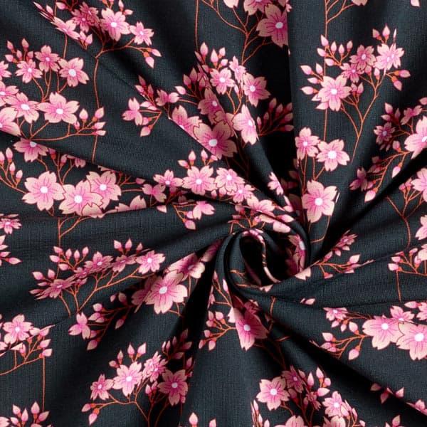 Albstoffe- Sakura Hana - Zwart sakura jersey hana gots zwart albstoffe hamburger liebe 173 904h92d 004 SZ00