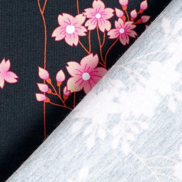 Albstoffe- Sakura Hana - Zwart sakura jersey hana gots zwart albstoffe hamburger liebe 173 904h92d 004 ZB01