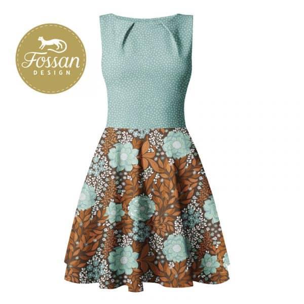 Fossan- Flower Flow Mint Mockup Flower Flow Mint Stone Mint logo